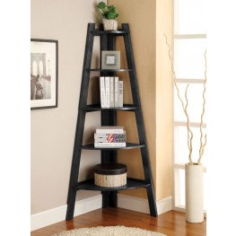 Lyss Black Ladder Shelf