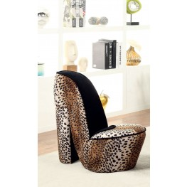Heely Leopard Print Large Accent Chair