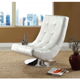 Trinidad White Swivel Accent Chair