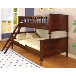 Radcliff Brown Cherry Twin Over Full Bunk Bed