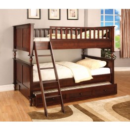 Radcliff Brown Cherry Twin Over Twin Bunk Bed