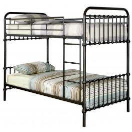 Oria Dark Bronze Twin Over Twin Bunk Bed