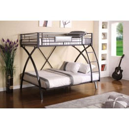 Apollo Gun Metal Twin Over Full Bunk Bed