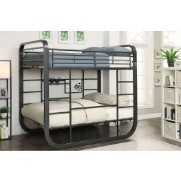 Olivet Gunmetal Twin Over Twin Bunk Bed