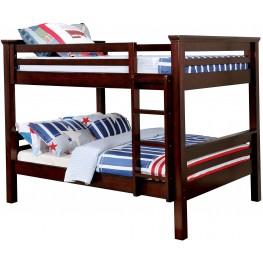 Marcie Dark Walnut Full Over Full Bunk Bed
