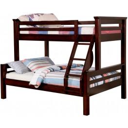 Marcie Dark Walnut Twin Over Full Bunk Bed