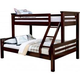 Marcie Dark Walnut Twin Over Queen Bunk Bed