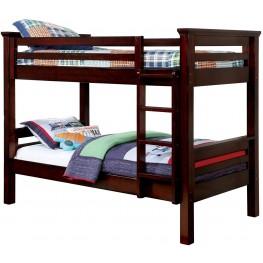 Marcie Dark Walnut Twin Over Twin Bunk Bed