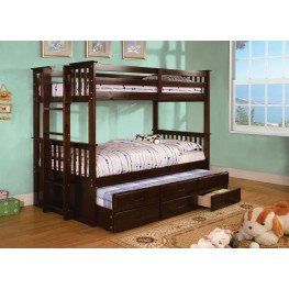 University II Espresso Twin Over Twin Bunk Bed