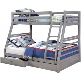 California Iii Gray Twin Over Full Bunk Bed