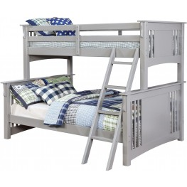 Spring Creek Gray Twin Over Full Bunk Bed