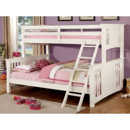 Spring Creek White Twin Extra Large Twin Over Queen Bunk Bed