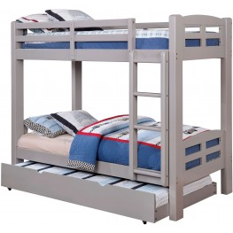 Solpine Gray Twin Over Twin Bunk Bed