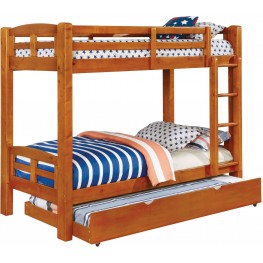 Solpine Oak Twin Over Twin Bunk Bed