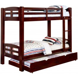Solpine Espresso Twin Over Twin Bunk Bed