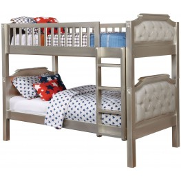 Beatrice Champagne Twin Over Twin Bunk Bed