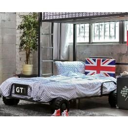 Royal Racer Gun Metal Twin Bed