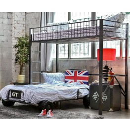 Royal Racer Gun Metal Twin Loft Bed