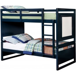 Glendale Blue Twin Over Twin Bunk Bed