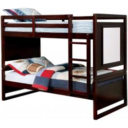 Glendale Dark Walnut Twin Over Twin Bunk Bed