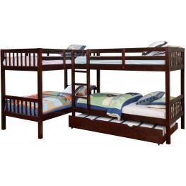 Marquette Dark Walnut Twin Bunk Bed