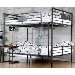 Olga I Antique Black Full Over Full Bunk Bed