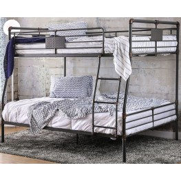 Olga I Antique Black Full Over Queen Bunk Bed
