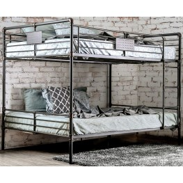 Olga I Antique Black Queen Over Queen Bunk Bed