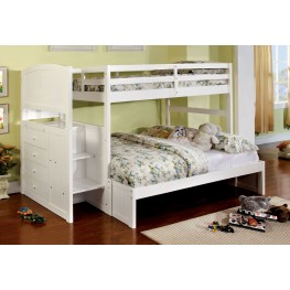 Appenzell White Twin Over Full Bunk Bed