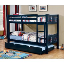 Cameron Blue Twin Over Twin Bunk Bed