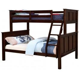 Gracie Dark Walnut Twin Over Full Bunk Bed