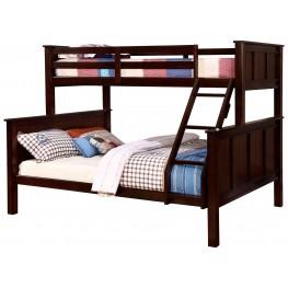 Gracie Dark Walnut Twin Over Queen Bunk Bed