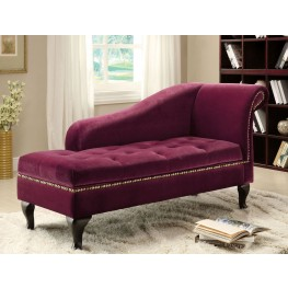 Lakeport Red Violet Fabric Storage Chaise