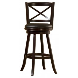 "Barnes 29"" Espresso Swivel Bar Stool"