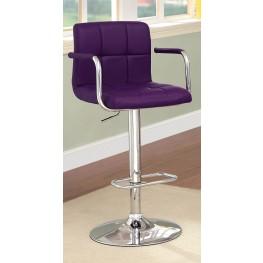 Corfu Purple Leatherette Bar Stool