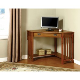 Toledo Oak Corner Desk