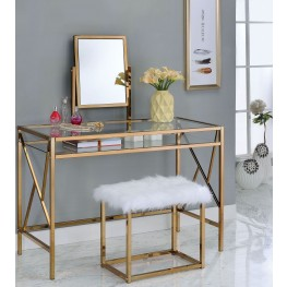 Lismore Champagne Vanity With Stool