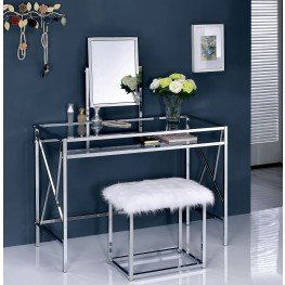 Lismore Chrome Vanity With Stool