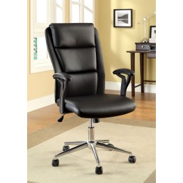 Clairton Black Leatherette Adjustable Height Office Chair