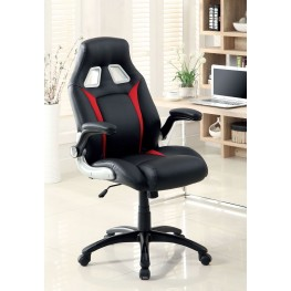Argon Black Leatherette Adjustable Height Office Chair