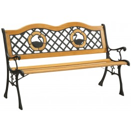 Havasu Natural Duck Inlay Wood Park Bench
