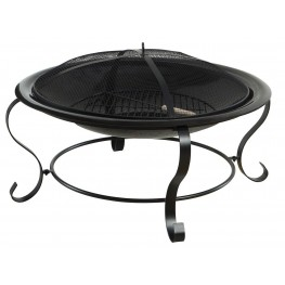 Ammon Round Modern Fire Place