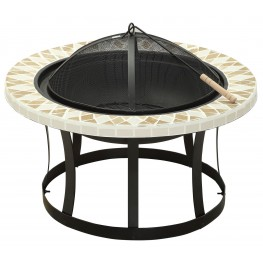 Ardoch Tile Pattern Round Fire Place