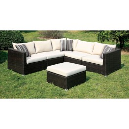 Abion Patio Ivory Sectional