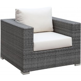 Somani Gray and Ivory Arm Chair