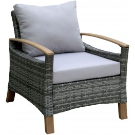 Monica Gray and Oak Arm Chair Set Of 2