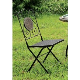 Betim Black Folding Metal Chair Set Of 2