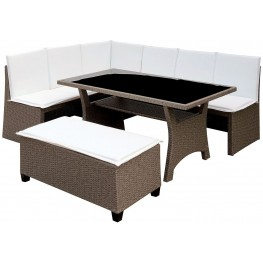 Wisheka Gray and White 3 Piece Patio Dining Set