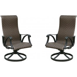 Chiara I Brown Swivel Rocker Chair Set Of 2