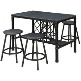 Cheri Bronze 5 Piece Patio Counter Height Dining Set